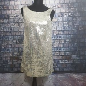 Free People sequin shift dress w/ tricot lining